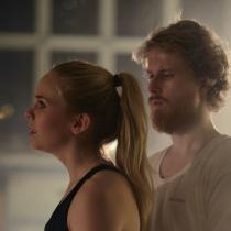 Teatteri II:n pääproduktio Lokki marraskuussa 2012. Kuvassa Menni Renvall ja Esa-Matti Smolander.